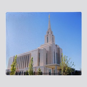 LDS Oquirrh Mountain Temple Throw Blanket