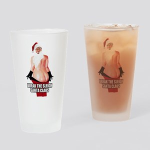 Break The Sleigh Santa Claus Drinking Glass