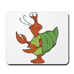 Silly Happy Hermit Crab Mousepad