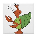 Silly Happy Hermit Crab Tile Coaster