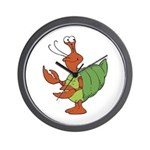 Silly Happy Hermit Crab Wall Clock
