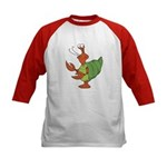 Silly Happy Hermit Crab Kids Baseball Jersey