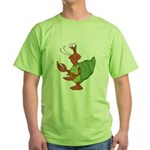 Silly Happy Hermit Crab Green T-Shirt