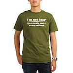 I'm Not Lazy Humor Organic Men's T-Shirt (dark)