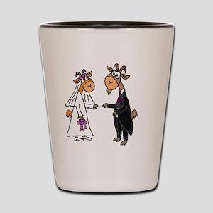 Goat Wedding Shot Glass