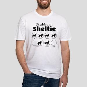 Stubborn Sheltie v2 Fitted T-Shirt