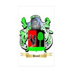 Hanel Sticker (Rectangle 50 pk)