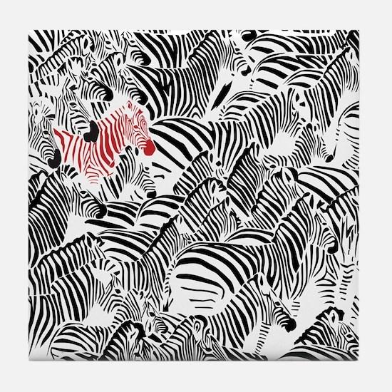 Be Different Zebra Tile Coaster