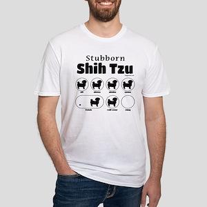 Stubborn Shih Tzu v2 Fitted T-Shirt