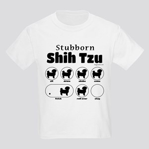 Stubborn Shih Tzu v2 Kids Light T-Shirt