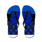 Blue Black Personalized Flip Flops