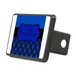 Blue Black Personalized Hitch Cover
