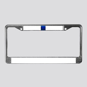 Blue Black Personalized License Plate Frame