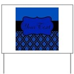 Blue Black Personalized Yard Sign