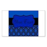 Blue Black Personalized Sticker