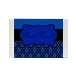 Blue Black Personalized Magnets