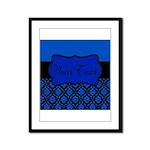 Blue Black Personalized Framed Panel Print