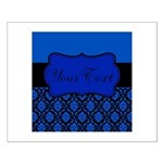 Blue Black Personalized Posters