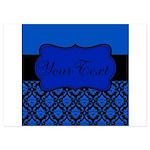 Blue Black Personalized Invitations