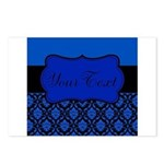 Blue Black Personalized Postcards (Package of 8)