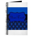 Blue Black Personalized Journal