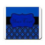 Blue Black Personalized Mousepad