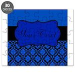 Blue Black Personalized Puzzle