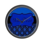 Blue Black Personalized Wall Clock