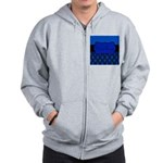 Blue Black Personalized Zip Hoodie