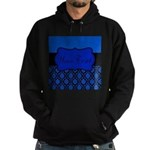 Blue Black Personalized Hoodie