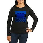 Blue Black Personalized Long Sleeve T-Shirt