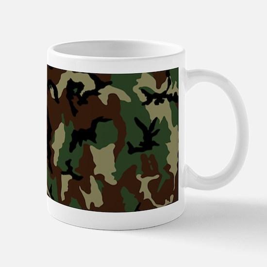 Green Camo Pattern, Optional Photo Mugs