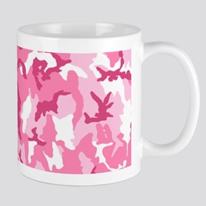 Pink Camo Pattern, Optional Photo Mugs