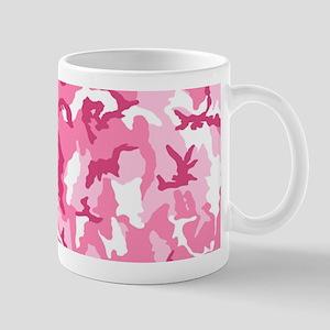 Pink Camo Pattern, Optional Photo Mugs