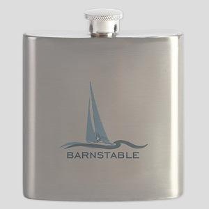 Barnstable - Cape Cod - Nautical. Flask
