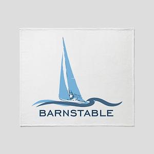 Barnstable - Cape Cod - Nautical. Throw Blanket