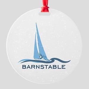 Barnstable - Cape Cod - Nautical. Round Ornament