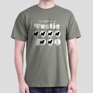 Stubborn Westie v2 Dark T-Shirt