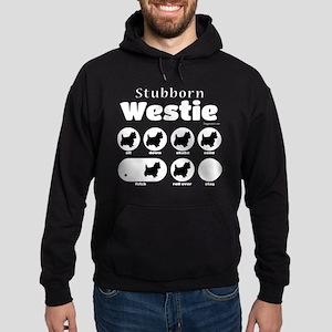 Stubborn Westie v2 Hoodie (dark)