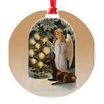 Angel Decorates Round Ornament