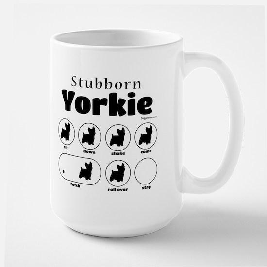 Stubborn Yorkie v2 Large Mug