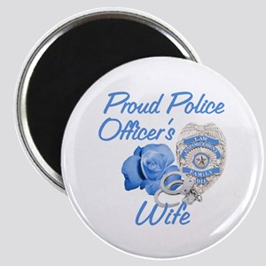 Blue Rose Police Wife Magnet