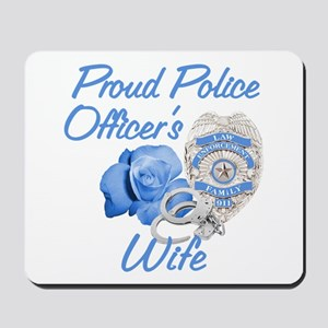 Blue Rose Police Wife Mousepad