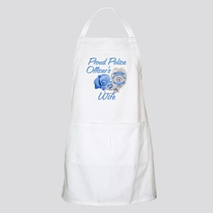 Blue Rose Police Wife BBQ Apron