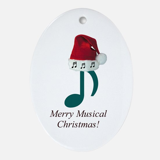 Merry Musical Christmas! Oval Ornament