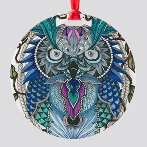 midnight Owl Round Ornament
