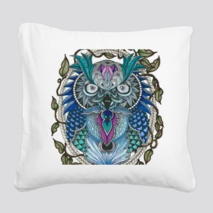 midnight Owl Square Canvas Pillow