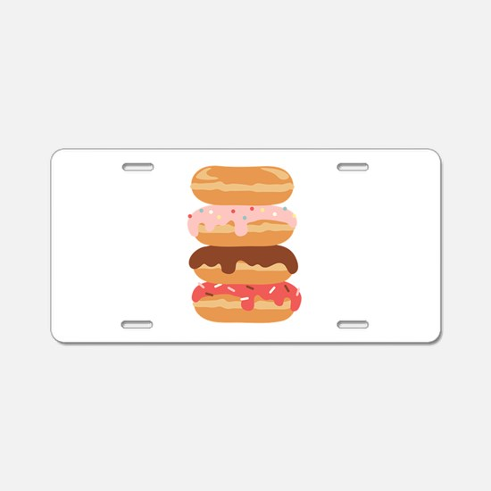 Sweet Donuts Aluminum License Plate