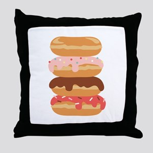 Sweet Donuts Throw Pillow