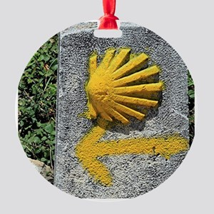 El Camino de Santiago de Compostela Round Ornament
